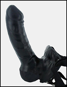HA1450  Latex strapon dildo